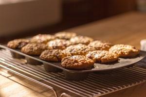 Muffins tous chauds sortis du four!