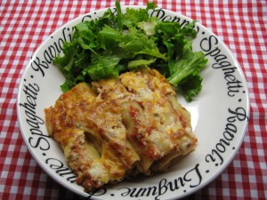 Cannellonis farcis, gratinés